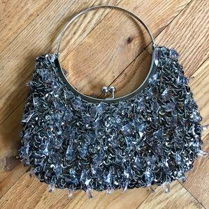 Handbags - Beautiful Silver Glitter evening bag